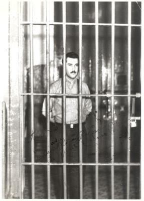 Juan Antonio Corretjer in jail cell