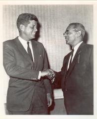 Felipe N. Torres greeting John F. Kennedy