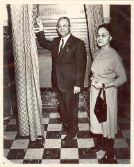 Felipe Neri Torres and his wife Inocencia Bello Paoli de Torres on election day