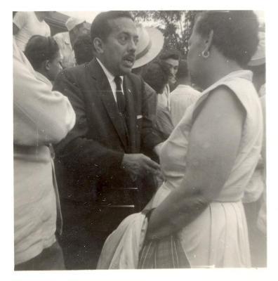 Gilberto Concepcion de Gracia at a busy public event