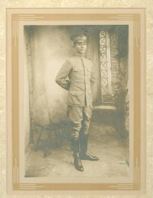 Felipe Neri Torres in his military uniform