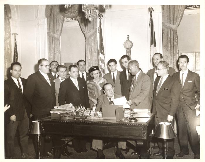 Governor Muñoz Marin, Felipe N. Torres and his wife Inocencia