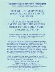 Protest U.S. Intervention in Central America and the Caribbean