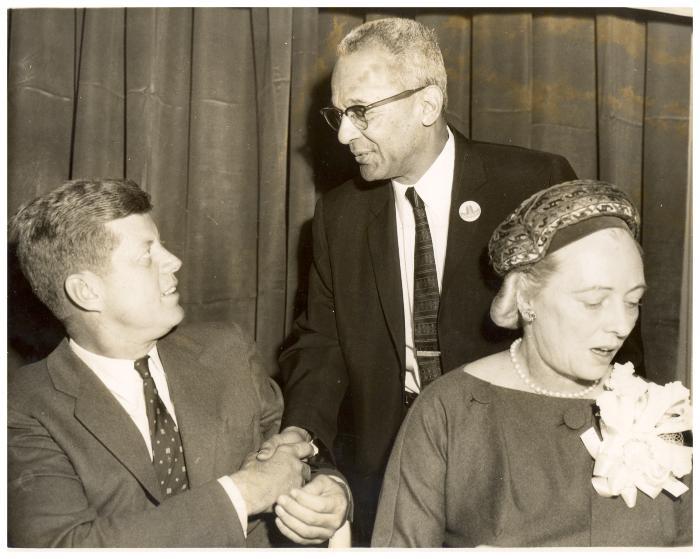 Felipe N. Torres shaking hands with John F. Kennedy