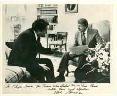 Robert Garcia meeting with President Jimmy Carter
