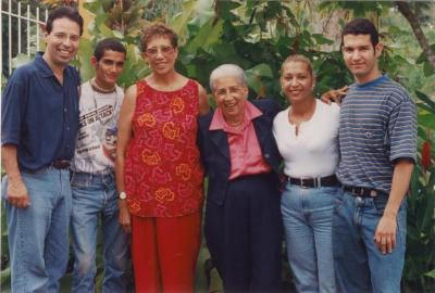 Antonia Pantoja with some of the community people