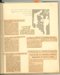News clippings of Alma's birth announcements