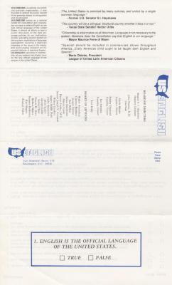 U.S. English pamphlet