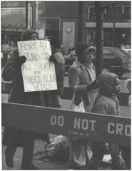 "Protest of the film ""Fort Apache, The Bronx"""