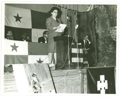 Ruth M. Reynolds on a Podium