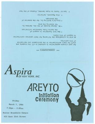 Invitation to Areyto Initiation Ceremony