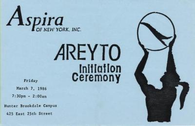 Areyto Initiation Ceremony