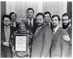 Evelina López Antonetty with her community service award