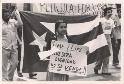 Protest against the film Fort Apache, the Bronx