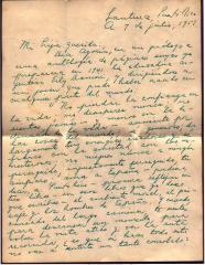 Correspondence to Alma Concepción Suárez from Gilberto Concepcion de Gracia