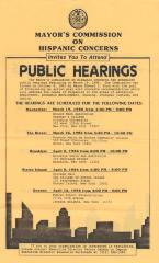 Mayor's Commission on Hispanic Concerns - Public Hearings