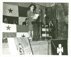 Ruth M. Reynolds on a Podium