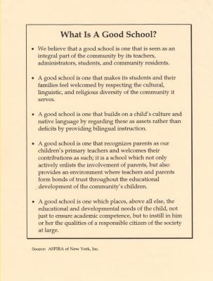 What is a Good School?
