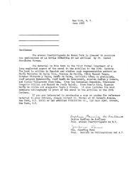 Letter from the Ateneo Puertorriqueño de Nueva York,  1969