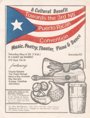 A Cultural Benefit towards the 3rd Ntl. Puerto Rican Convention