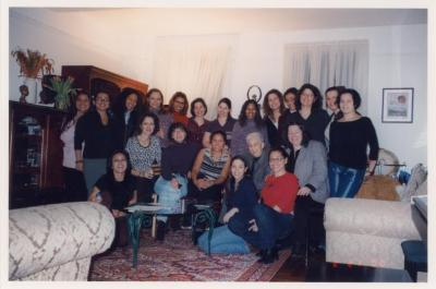 A women's gathering including Antonia Pantoja