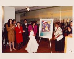 """Revealing the poster """"La Mujer Puertorriqueña, La Verdadera Borinqueña"""" (The Puerto Rican Woman, the True Puerto Rican)"""