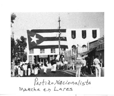 Nationalist Party marching in Lares, PR