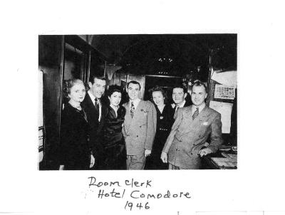 Gerena Valentín with others at the Hotel Commodore