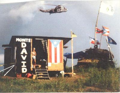 Point of Protest in Vieques, PR