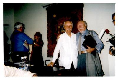 Gerena Valentín with Ricardo Alegria