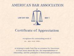 Certificate of Appreciation to Hon. Judge Frank Torres