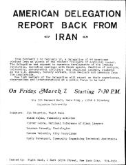 American Delegation Report Back from Iran