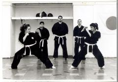Women in martial arts class