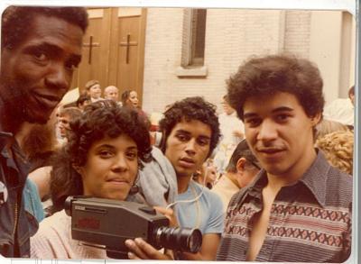 Camera film crew