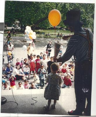 Clown performing at children's show