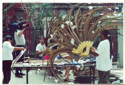 Artists working on a creation at CHARAS