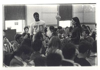 Youths at a meeting at CHARAS