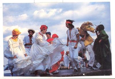 Festival performers dancing onstage