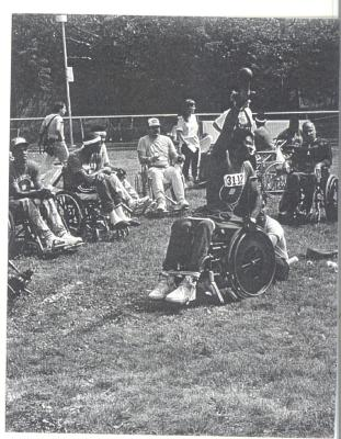 Athletes in wheelchairs at CHARAS