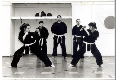 Women in martial arts class