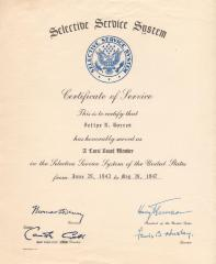 Certificate of Service to Felipe N. Torres