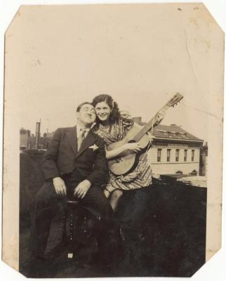 Erasmo Vando and Emelí Vélez soon after their honeymoon