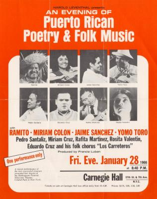 An Evening of Puerto Rican Poetry & Folk Music