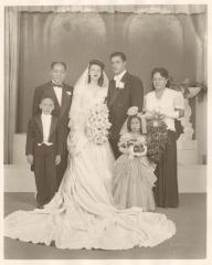 Concha and Jesús Colón in a family wedding picture