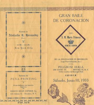 The Gran Baile de Coronacion from la Liga Puertorriqueña,Inc.