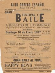 Club Obrero Español presents Gran Festival y Baile