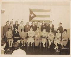 "Group of people at the Acto Pro- Independencia de Puerto Rico en el ""Oddfelos Temple"""