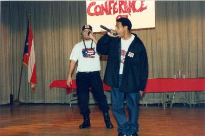 A group of men performing at the ¡MUÉVETE! Boricua Youth Conference