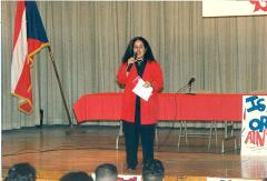 Speaker onstage at ¡MUÉVETE! Boricua Youth Conference