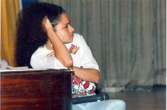 Woman speaking at the ¡MUÉVETE! Boricua Youth Conference